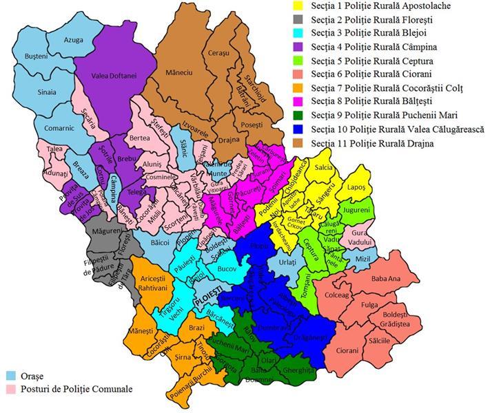 Harta Secţiilor De Poliţie Rurală Din Prahova Sindicatul