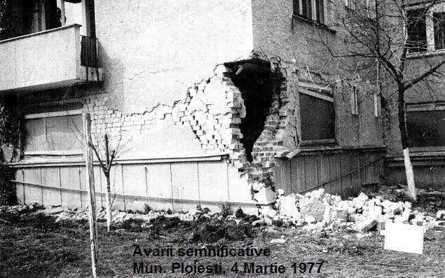 Bloc din Ploiesti avariat la cutremurul din 1977