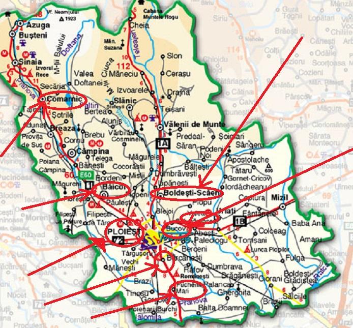 Harta Harta Rutiera Prahova