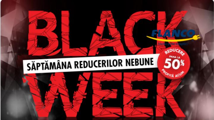 Flanco organizează Black Week, între 24 aprilie și 2 mai. Magazinul online face reduceri de până la 70% la toate produsele prezentate pe site.