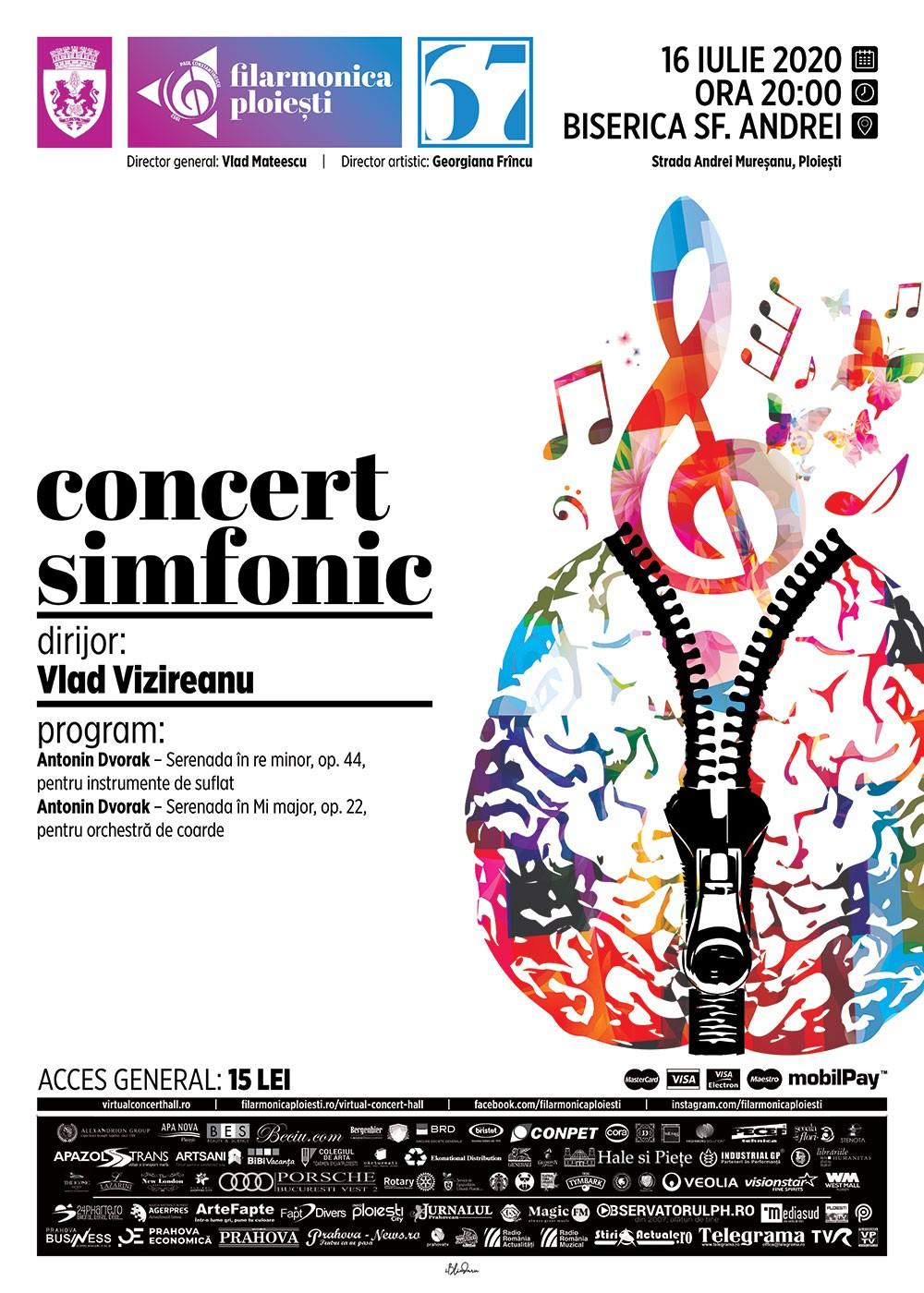 Concert simfonic în curtea Bisericii Sf. Andrei din Ploiești