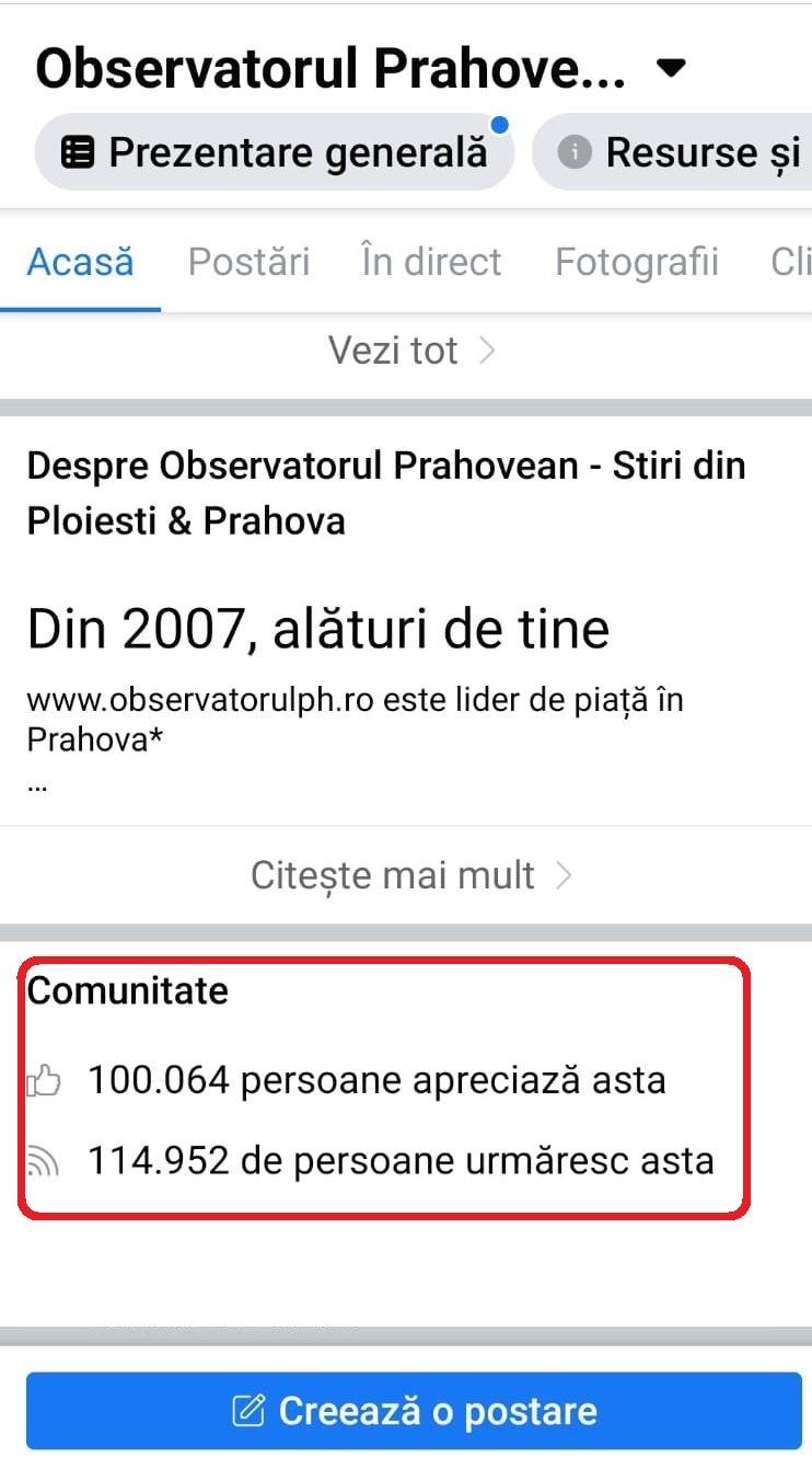 Comunitatea Observatorulph.ro a depășit pragul de 100.000 de membri pe Facebook. Vă mulțumim!