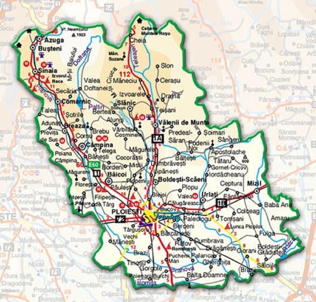 Rata incidenței cumulative a COVID-19, în Prahova, la 1000 locuitori, pe localități (UAT)