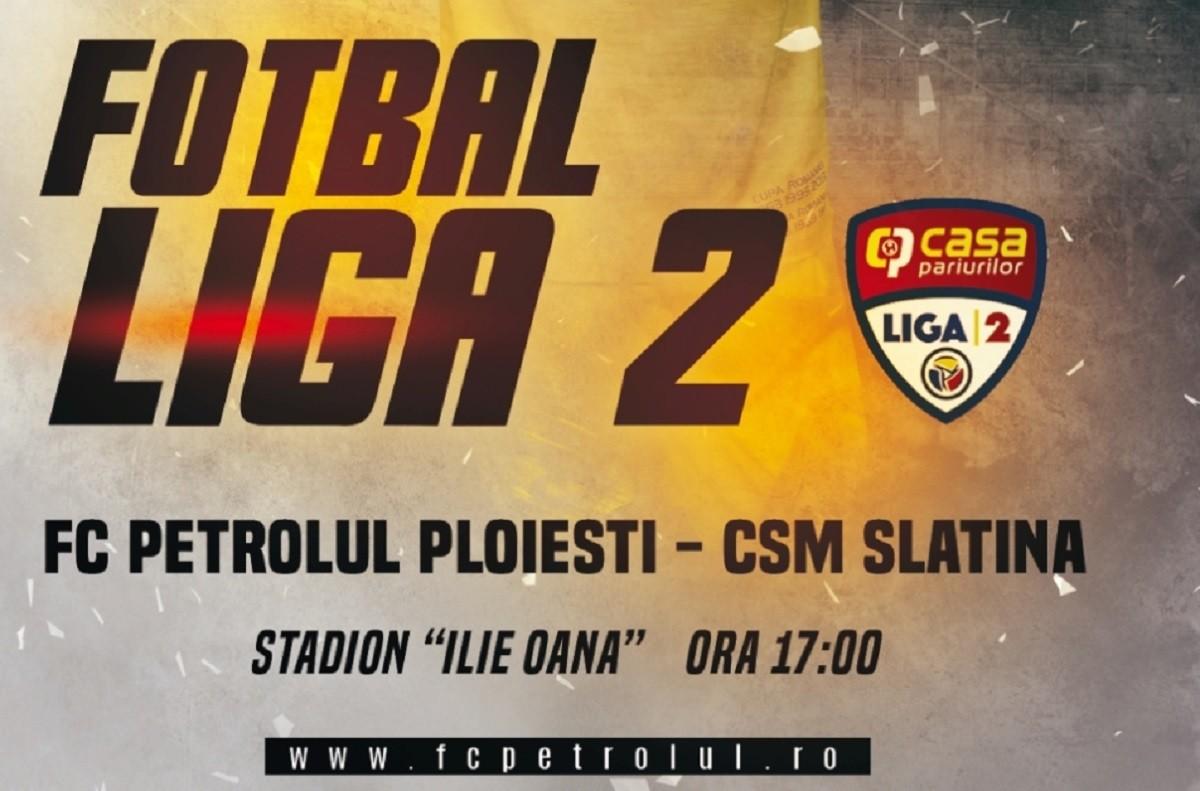 Partida FC Petrolul – CSM Slatina, miercuri, de la ora 17.00, pe Stadionul Ilie Oană
