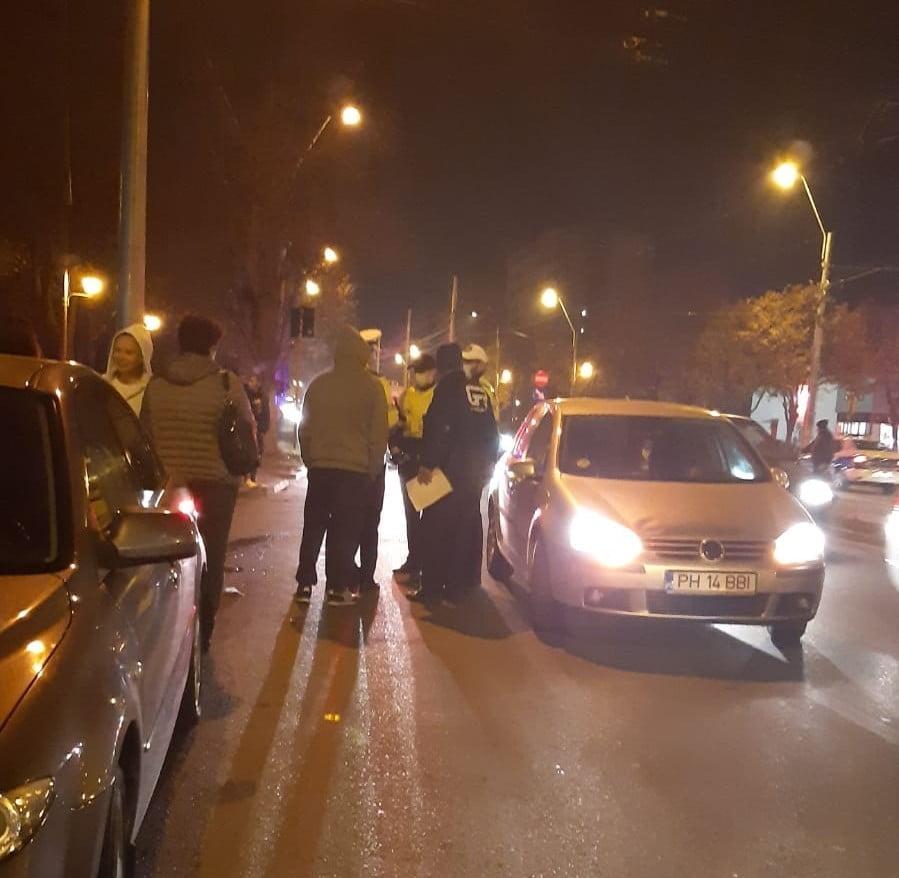 Accident pe trecerea de pietoni, la intersecția Șoseaua Vestului – Cosminele, din Ploiești. O femeie a fost transportată la spital