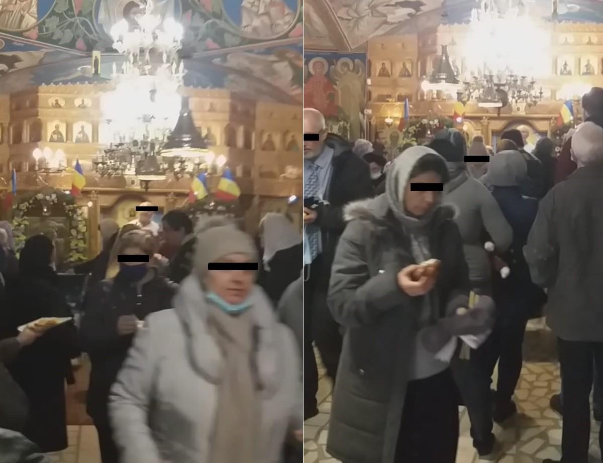 """FOTO/VIDEO-Predică """"antibotniță"""" într-o biserică din Ploiești, unde credincioșii nu poartă mască. Preotul este cercetat de superiori"""