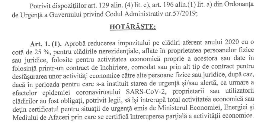 Reduceri de impozite locale pentru persoanele fizice și juridice din Ploiești afectate de covid