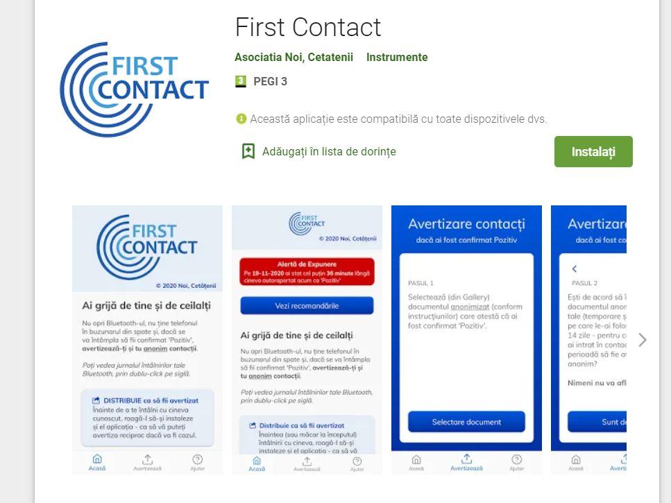 S-a lansat prima aplicație din România care te avertizează dacă ai intrat în contact cu un bolnav covid