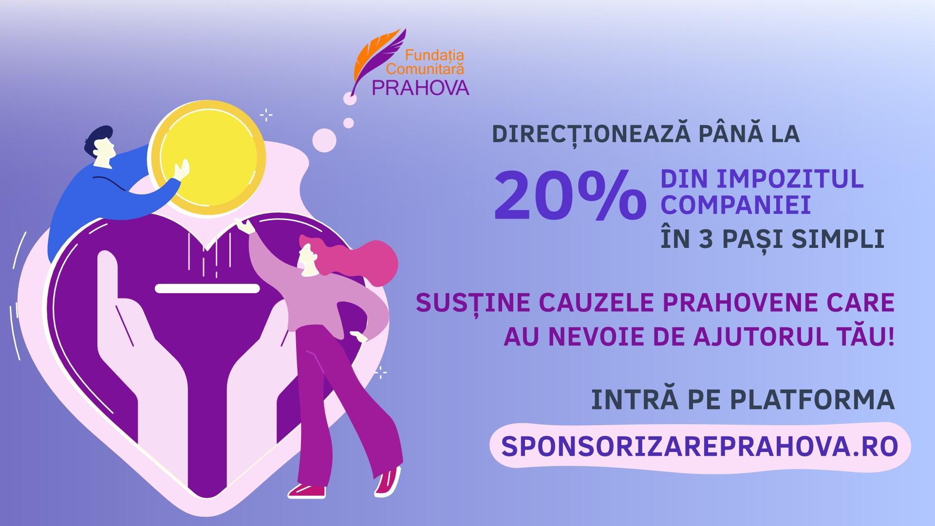 A fost lansată în Prahova platforma prin care, în trei pași simpli, poți redirecționa până la 20% din impozit pentru cauze în care crezi!