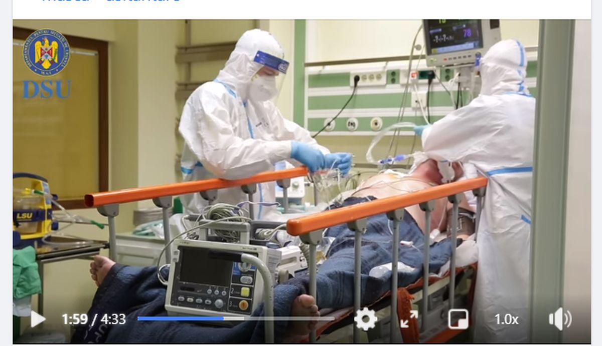 Imagini dramatice din spitalele suport covid din România. Pacienții se chinuie să respire – VIDEO
