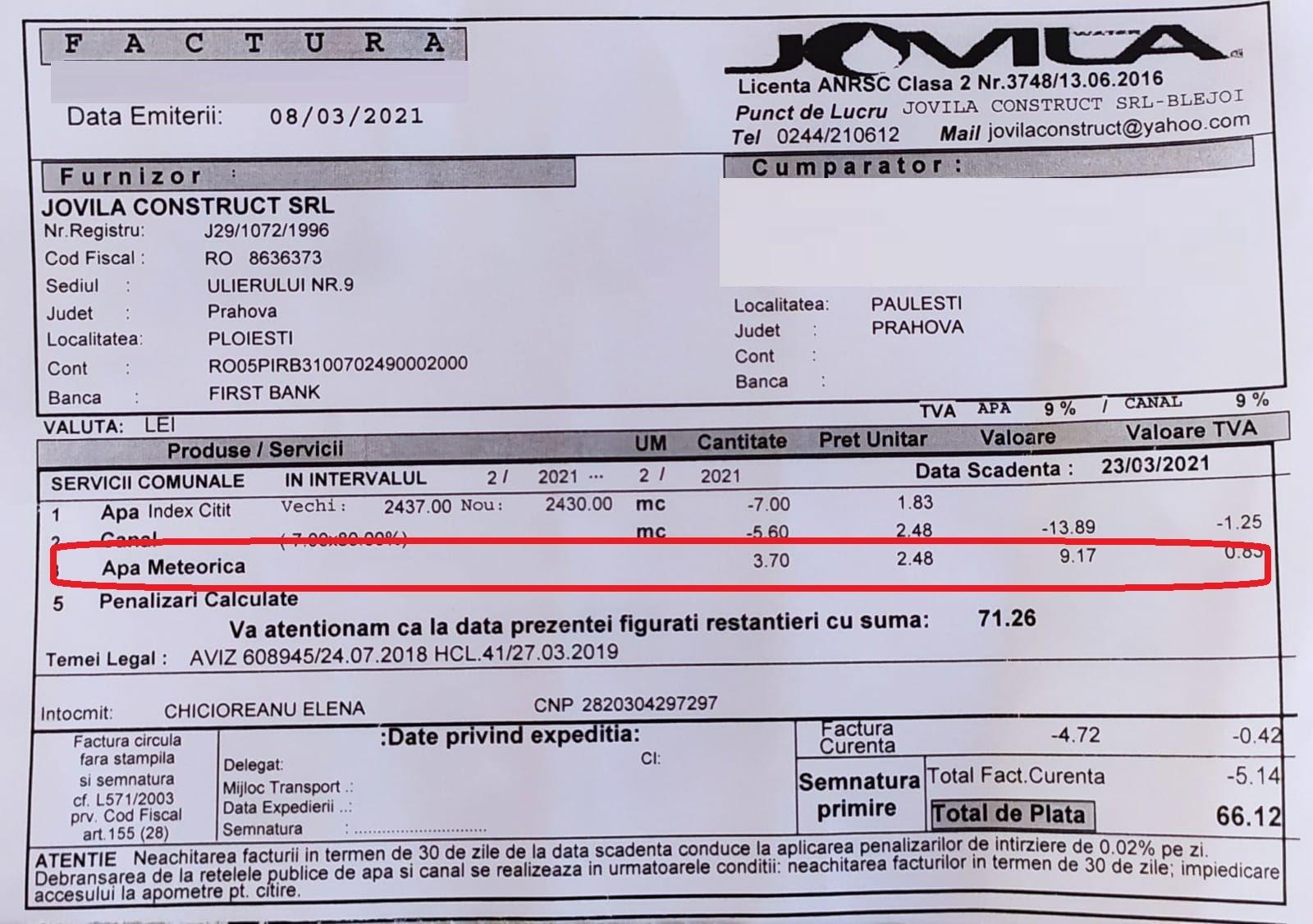 De ce plătesc locuitorii din Păulești o taxă pe apa de ploaie de 10 lei/gospodărie, indiferent dacă e secetă sau plouă abundent